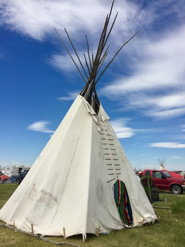 Lodge at North American Indian Days
